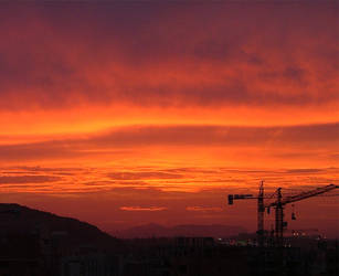 Alicante sunset later 2 by tomcrocker