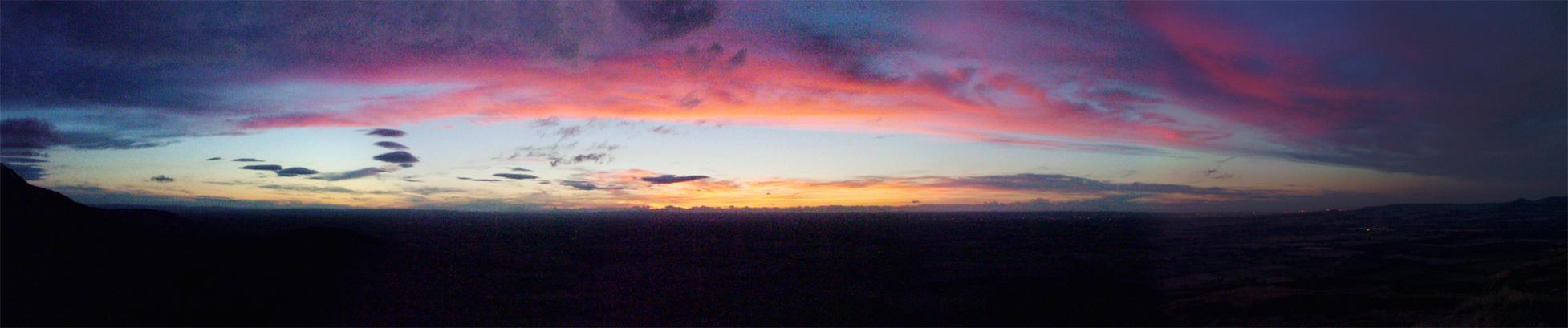 Carlton moor sunset panoramic by tomcrocker