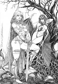 Res Sonja and Vampirela