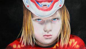 Young Michael Myers colour portrait by kowaigirl