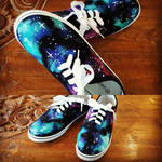 Hand Painted Space/galaxy shoes