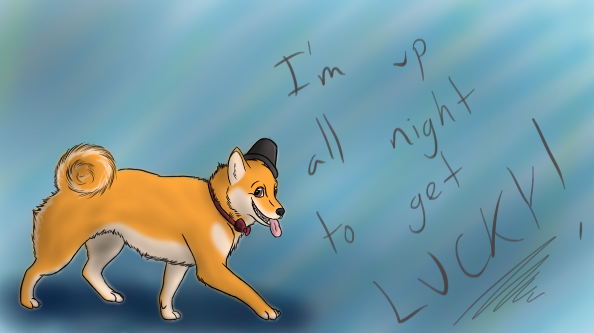 Shiba Inu Wallpaper Get Lucky By MidnightFreakShow