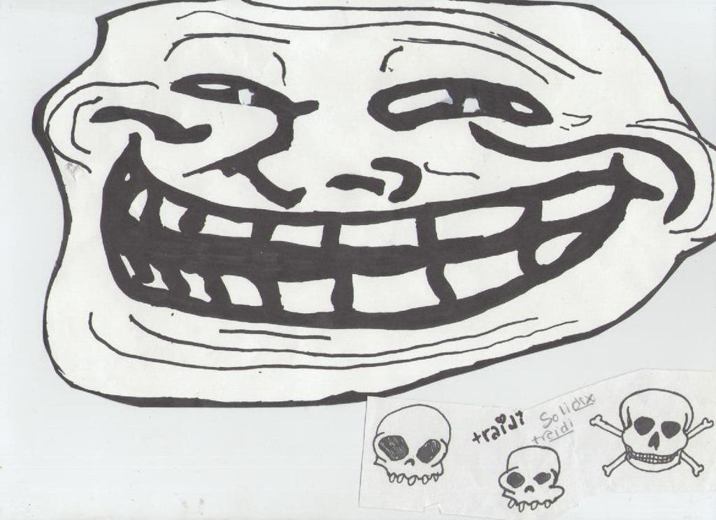 how to draw a troll face on calculator