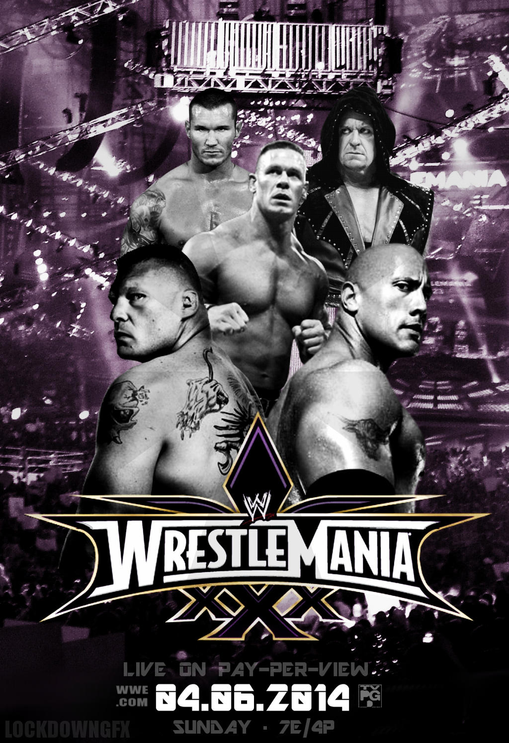 WWE WRESTLEMANIA 30 POSTER -  April 6, 2014 by LockdownGFX