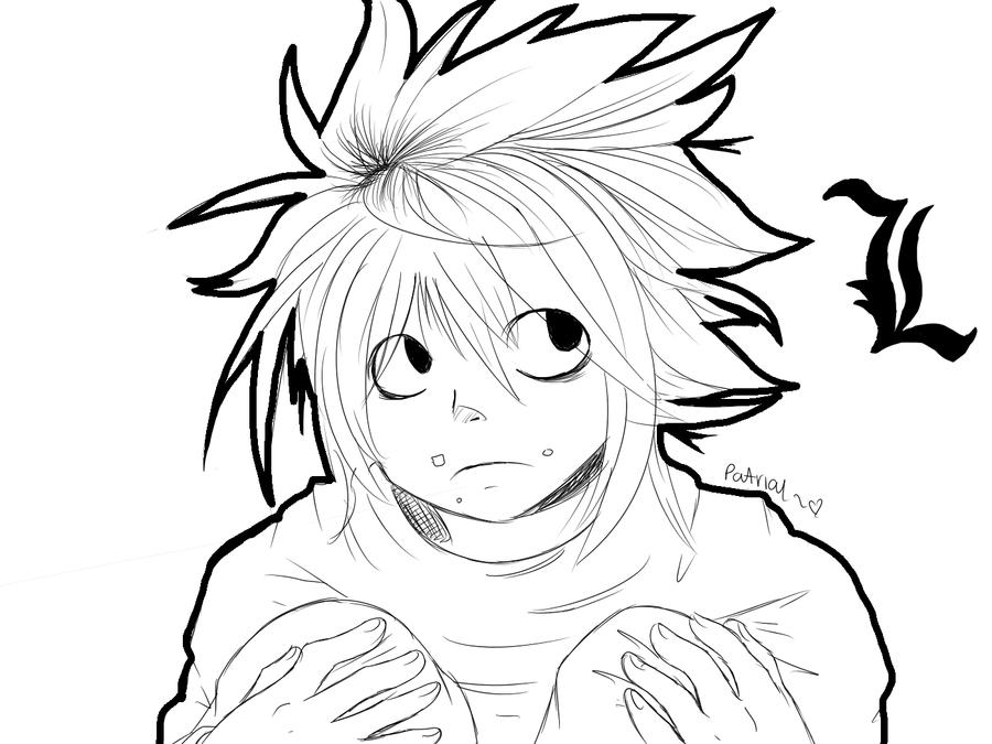 Dibujos Para Colorear De Death Note: L From Death Note By Patrial On DeviantArt