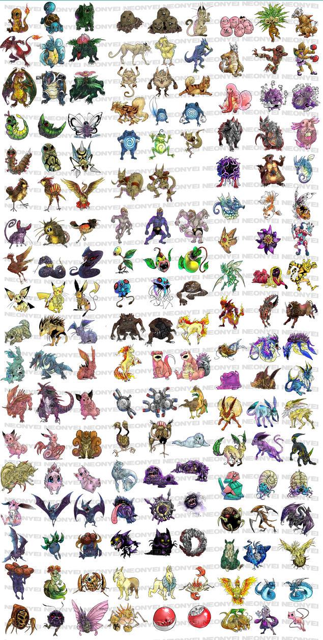 pokemon gen one by neonyei on deviantart