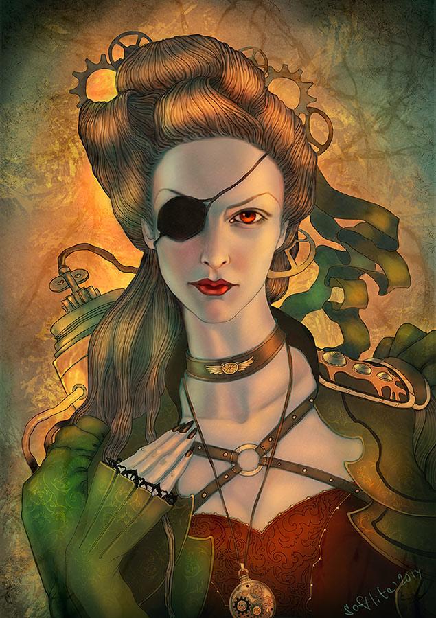 Steampunk portrait by Girre