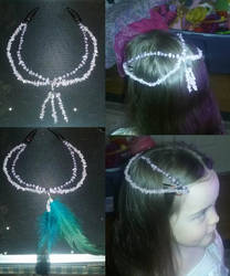 Beaded Hair Piece, First Project