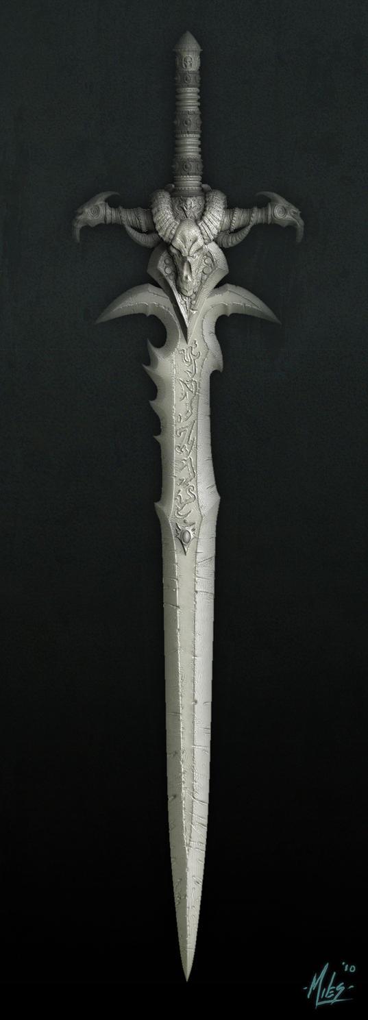Frostmourne_Sculpt_by_31883milesperhour.