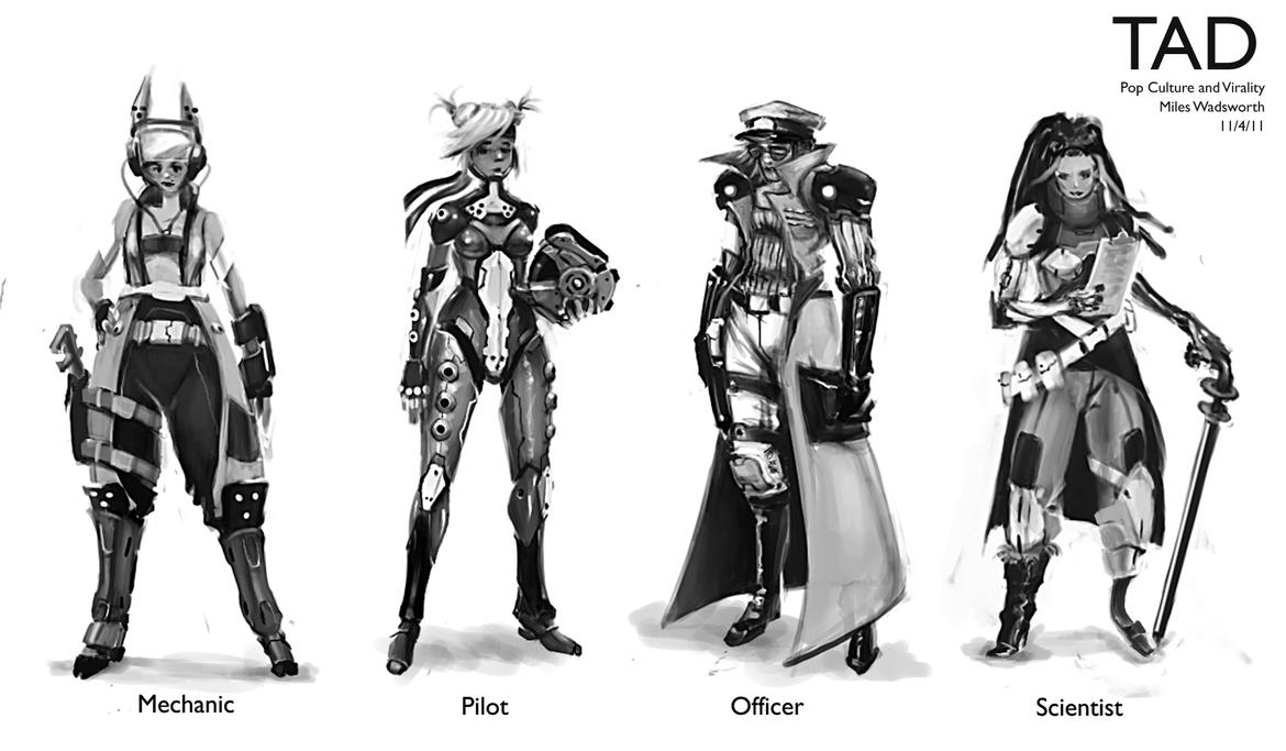 Female Character concepts by 31883milesperhour