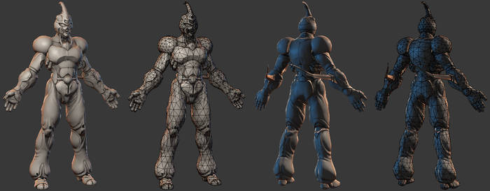 Guyver Low Poly WIP
