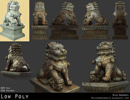 Shi Shi Lion Prop- Low Poly by 31883milesperhour