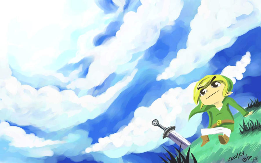 wind waker wallpaper by exeivier on deviantart