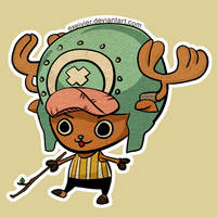Cotton candy lover Chopper by Exeivier