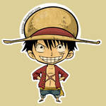 Mugiwara Luffy Sticker by Exeivier