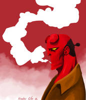 Hellboy Fanart by Exeivier