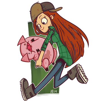 Wendy and Waddles by Exeivier