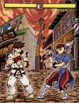 Ryu Vs Chun-Li Round 1