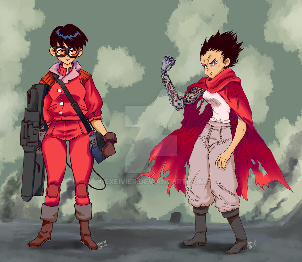 genderbend akira tetsuo and kaneda by exeivier on deviantart