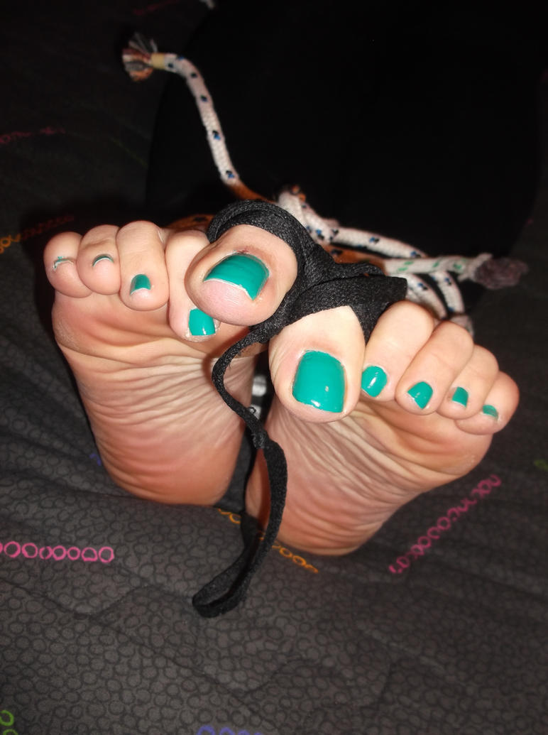 tied up feet in green by whor4cle on deviantart. Black Bedroom Furniture Sets. Home Design Ideas