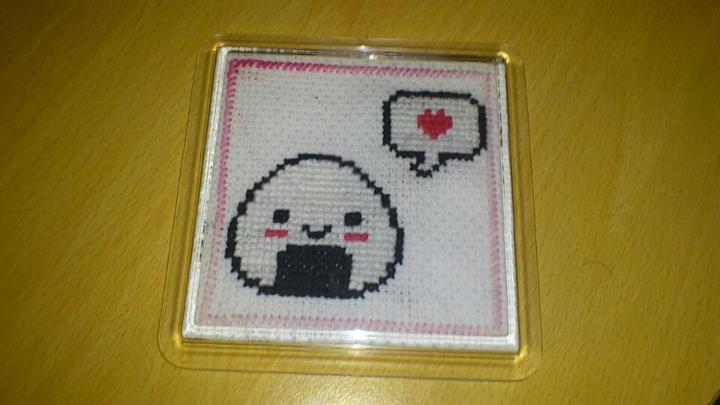 Cross Stitch Onigiri by passionfyre