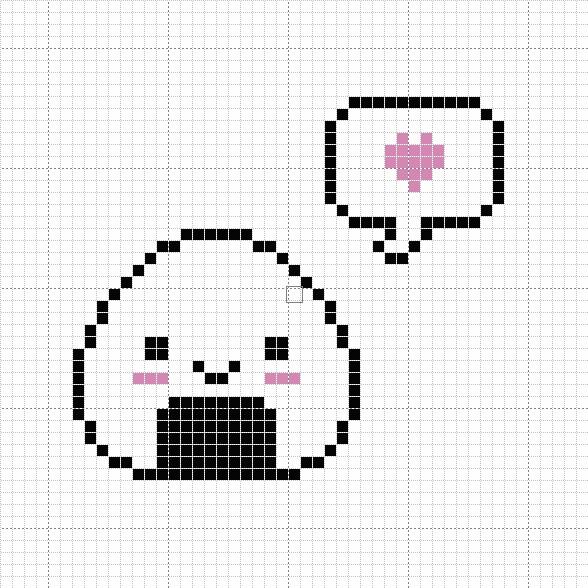 Happy Onigiri Cross Stitch Pattern by passionfyre