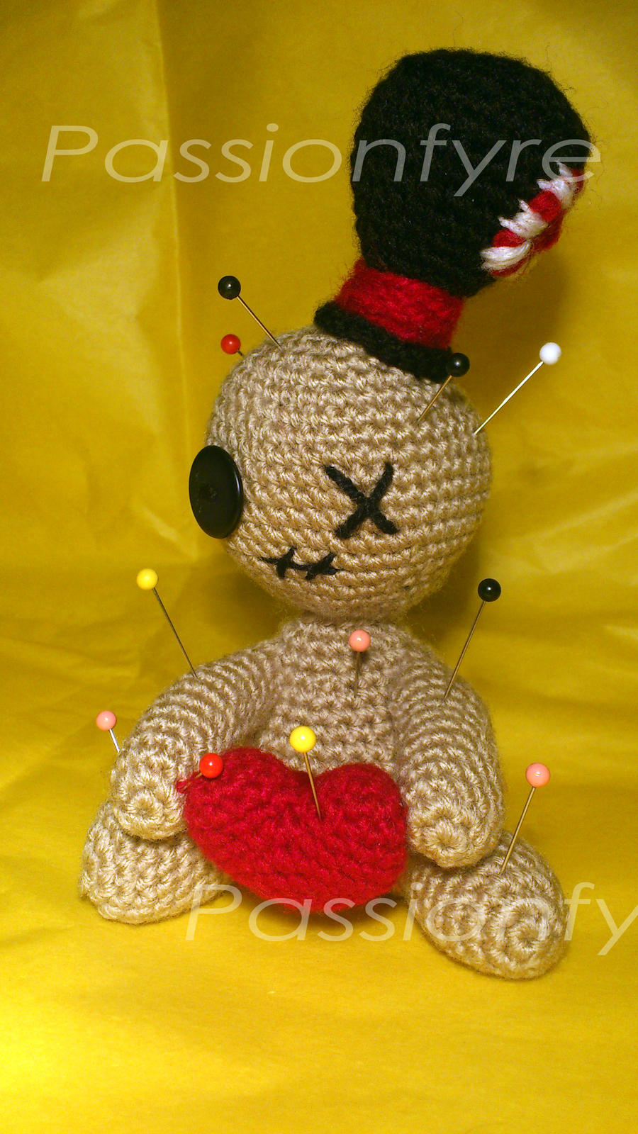 FULL PATTERN: Creepy Cute Voodoo Doll crochet pattern with Cat and ... | 1600x900
