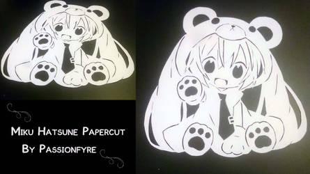 Miku Hatsune Papercut 2nd by passionfyre