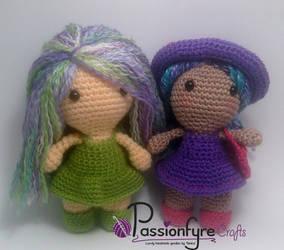 'Brighton' Amigurumi Dolls  by passionfyre