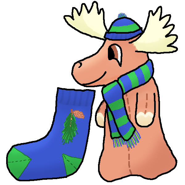 Moose Cylin And His Sock by breandriasquest