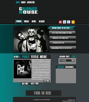 Grunge House blog theme