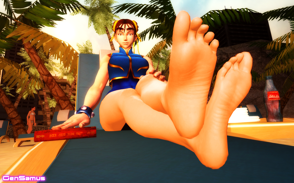 The Feet of Chun-Li by GenSamus
