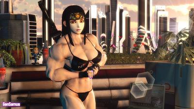 Muscular Bikini Connie by GenMarshall