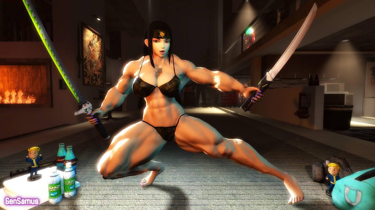 Connie's Dual Sword Pose
