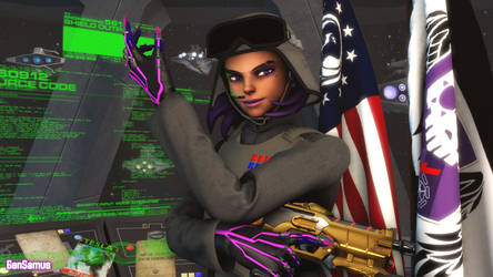 Sombra Wearing an Imperial Major General's Uniform