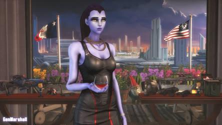 Widowmaker in a Sci-Fi Dress