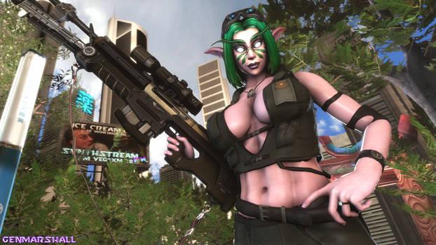 Valerya and her Rifle