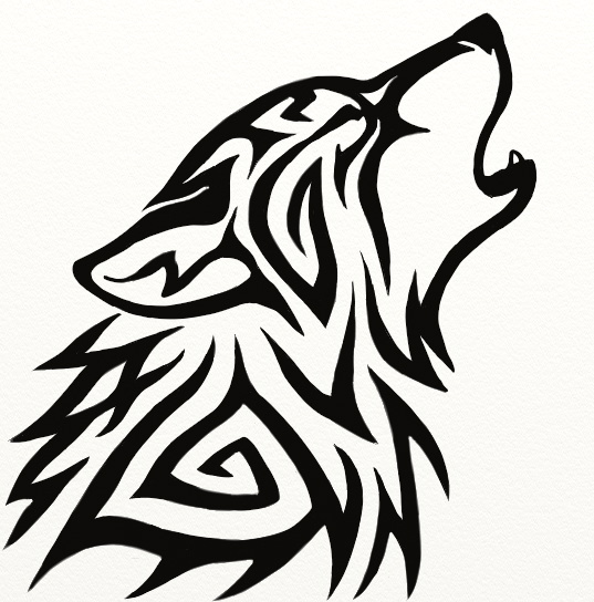 eb774370 Tribal Wolf Howl by Hareguizer on DeviantArt