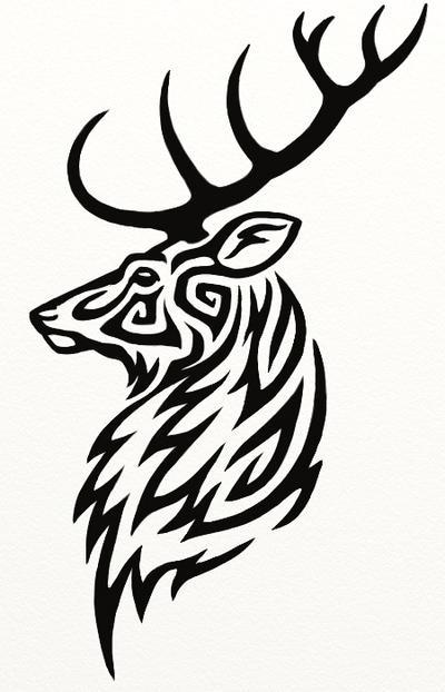 Stag Tattoo by Hareguizer on DeviantArt