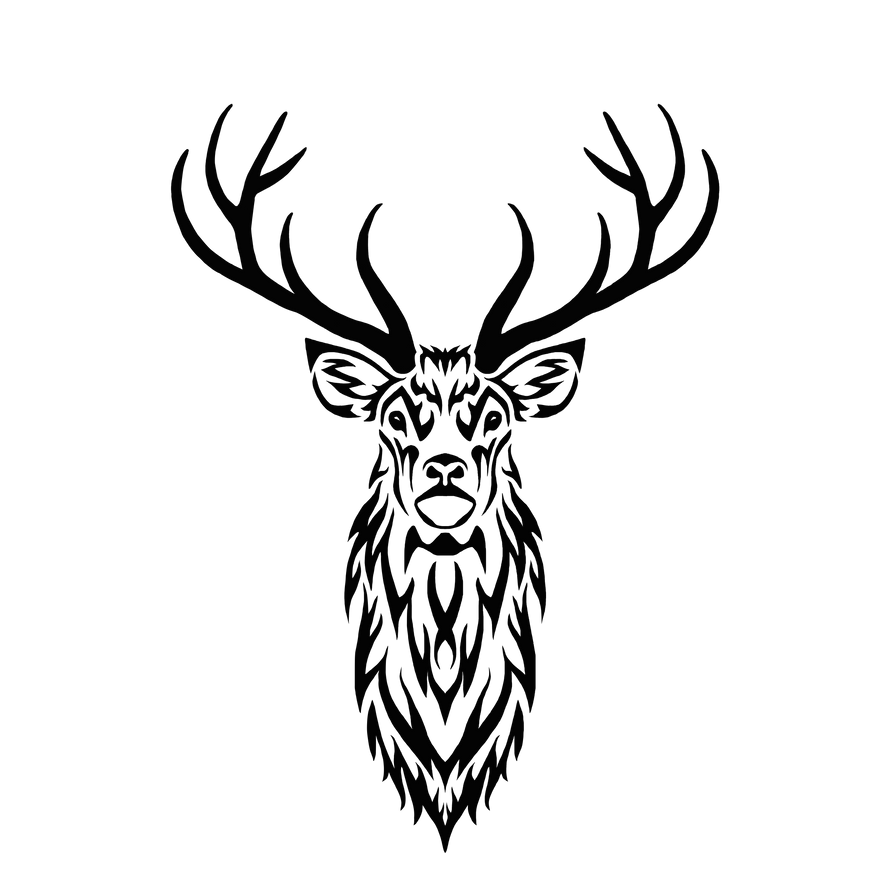 tribal stag ii by hareguizer on deviantart elk clip art png elk clip art black and white