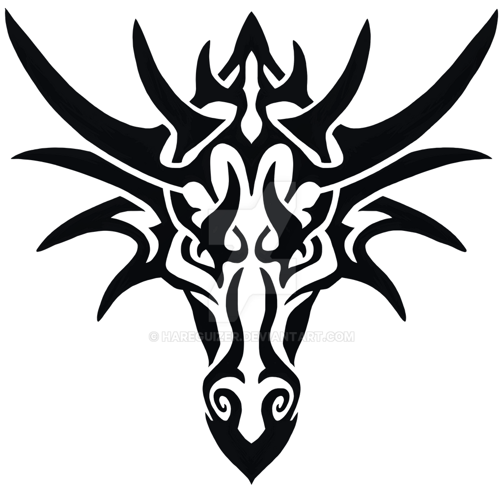 Dragon Tattoo Png: Tribal Dragon By Hareguizer On DeviantArt