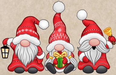 Xmas gnomes colour