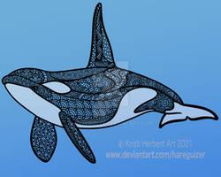 Orca Zentangle