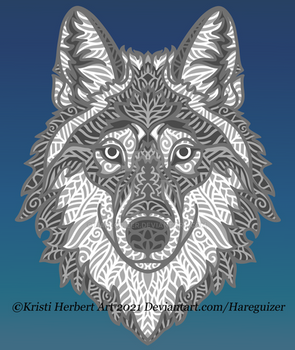 Wolf 3D Paper Art