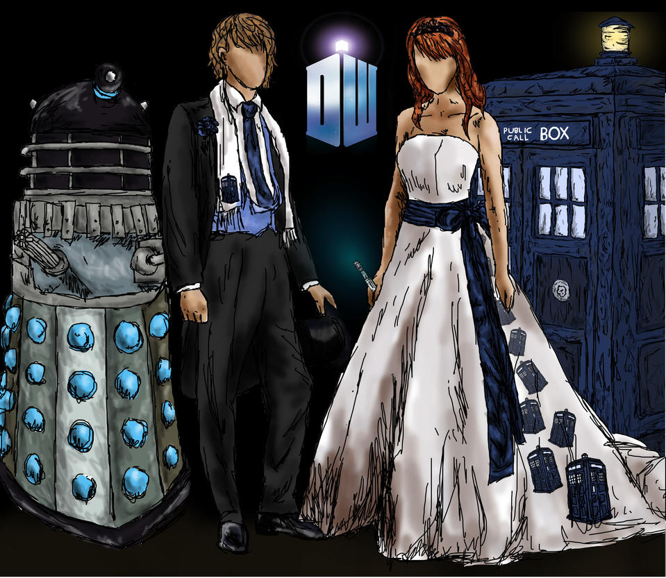 A doctor who wedding by lenleg on deviantart for Doctor who themed wedding dresses