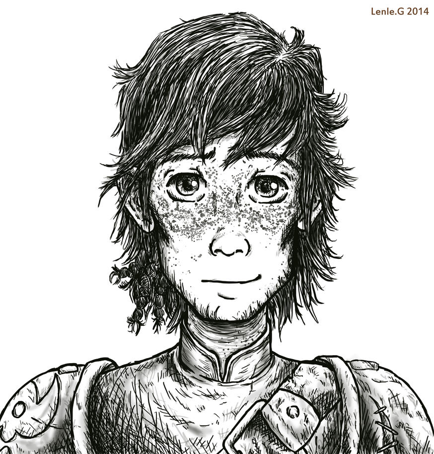 Digital Painting Line Art : Older hiccup digital line art by lenleg on deviantart