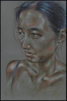 COMMISSION BBP art: Female Portrait Brenda