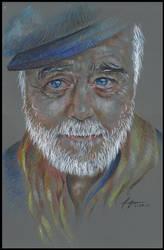 COMMISSION BBP art: Old  Man Portrait