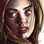 Mila Kunis Portrait Digital Painting
