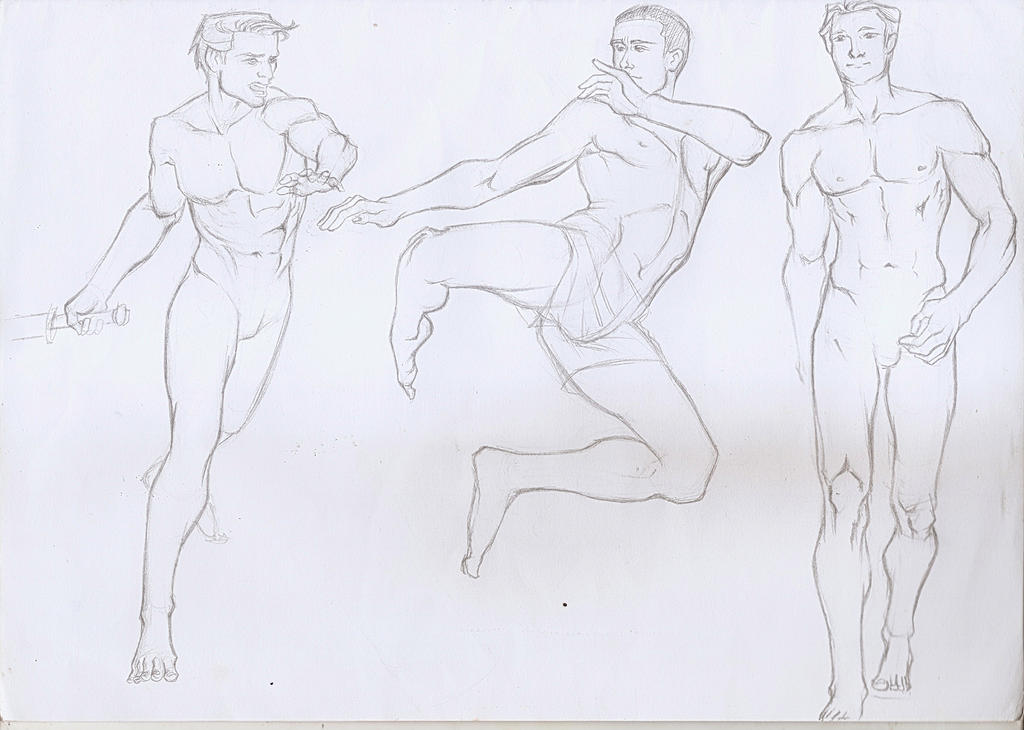 Men poses 2 by Lovely-Bacar